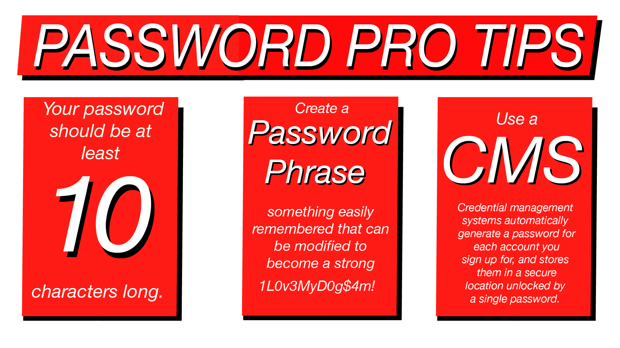 Passwords Pro Tips